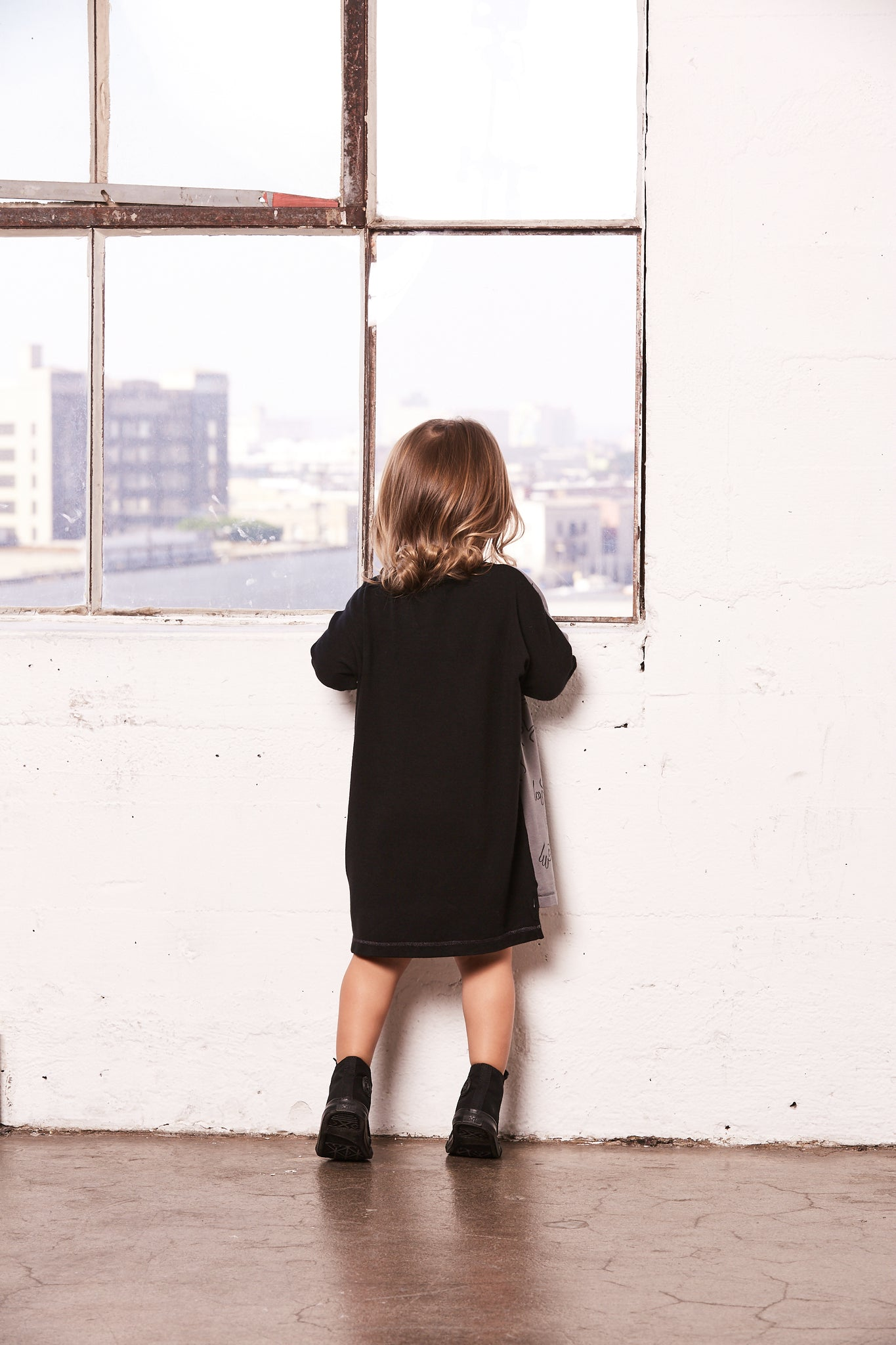 Color Blocked Kid Emoji Oversized Tunic