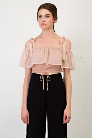 COLD SHOULDER STRAP CROP TOP
