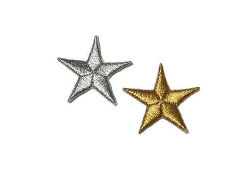 METALLIC STARS PATCH