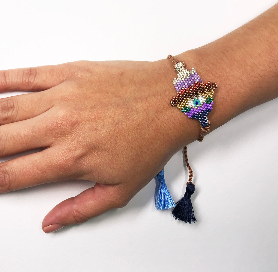 STRING HAMSA COLORS BRACELET