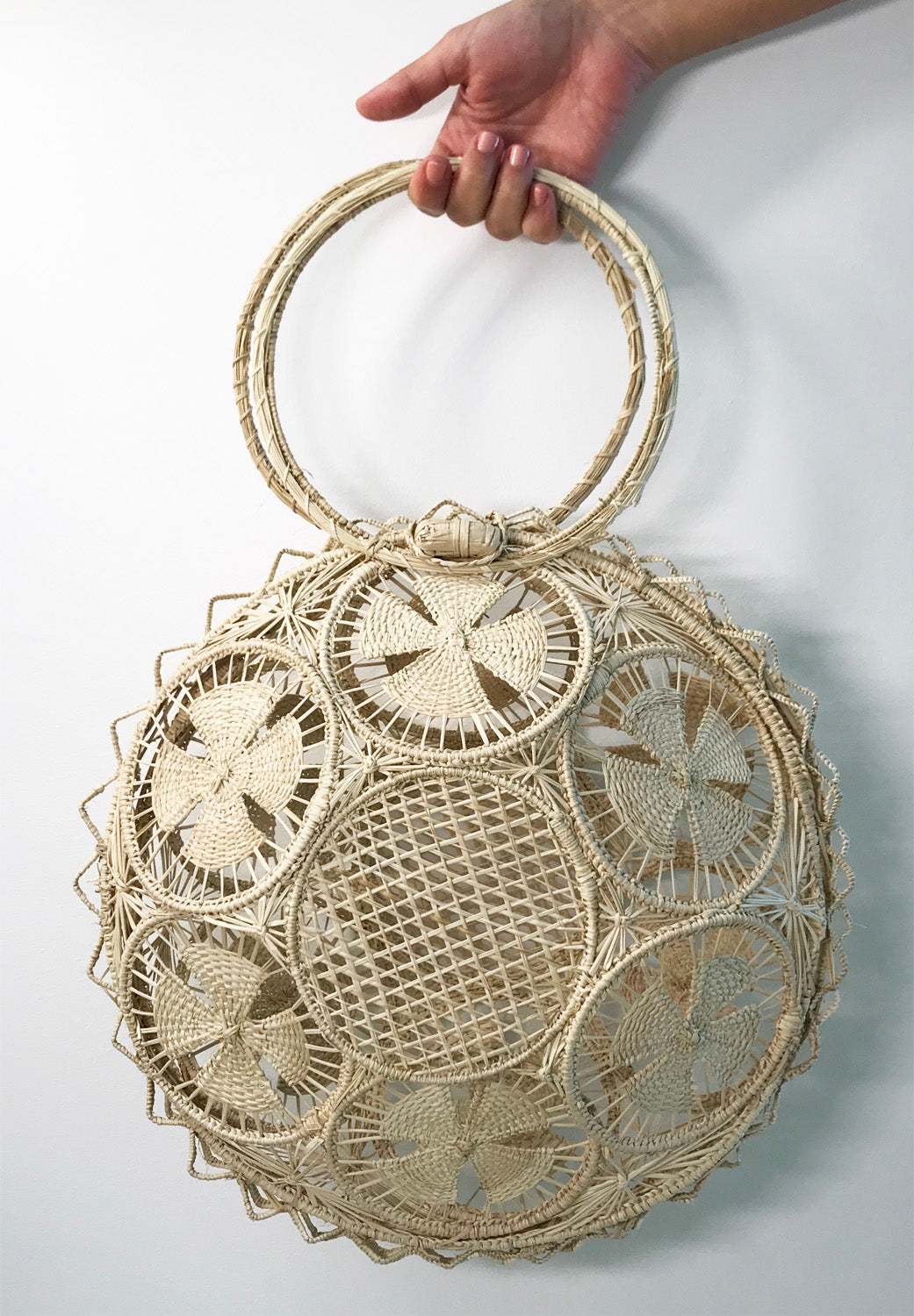 STRAW TREE BAG