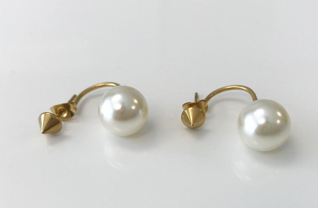 SPIKE PEARL EARRINGS