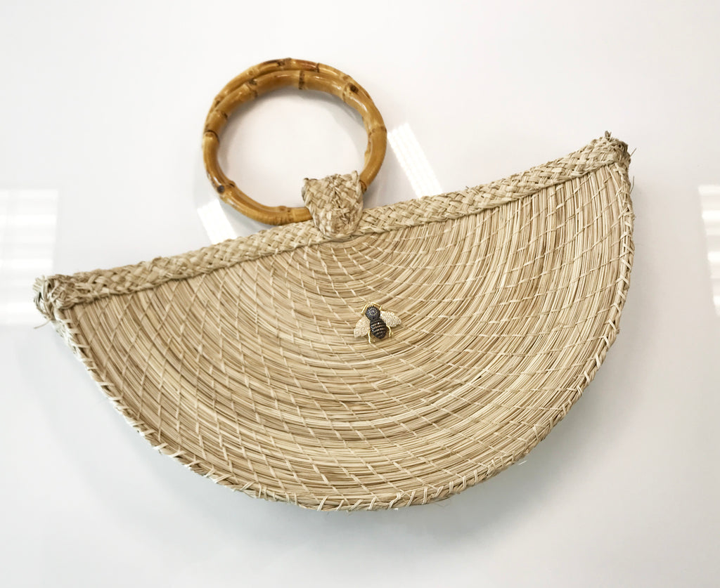 ESME BAMBOO STRAW BAG