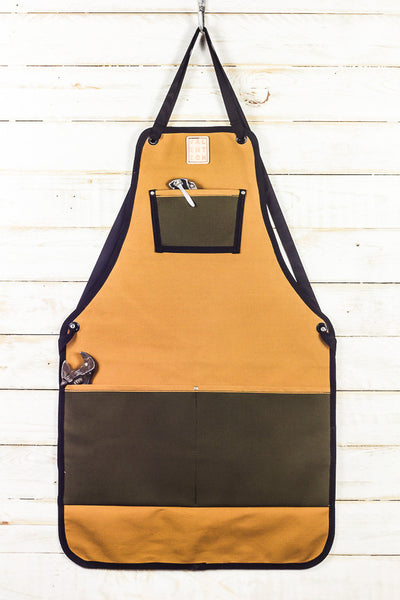 Utility Apron | Honey + Olive