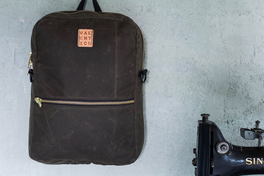 Waxed Backpack Tote | Chocolate - Valentich