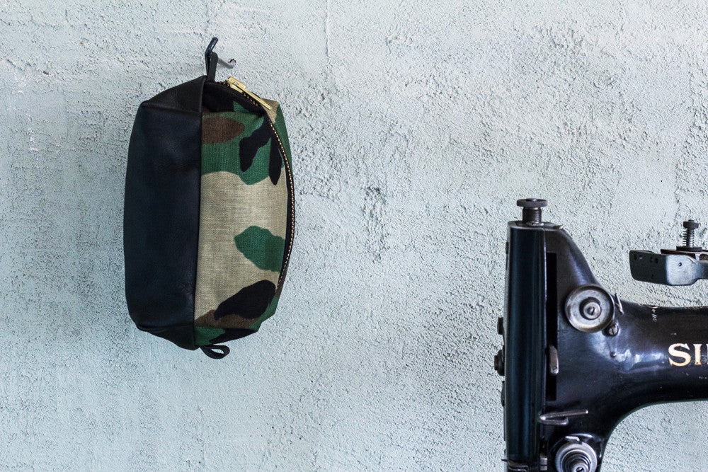 Leather Dopp Kit | Camo - Valentich
