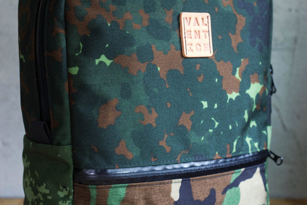 camo cordura zipper backpack