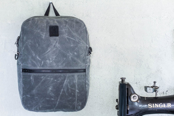 Waxed Backpack Tote | Charcoal - Valentich