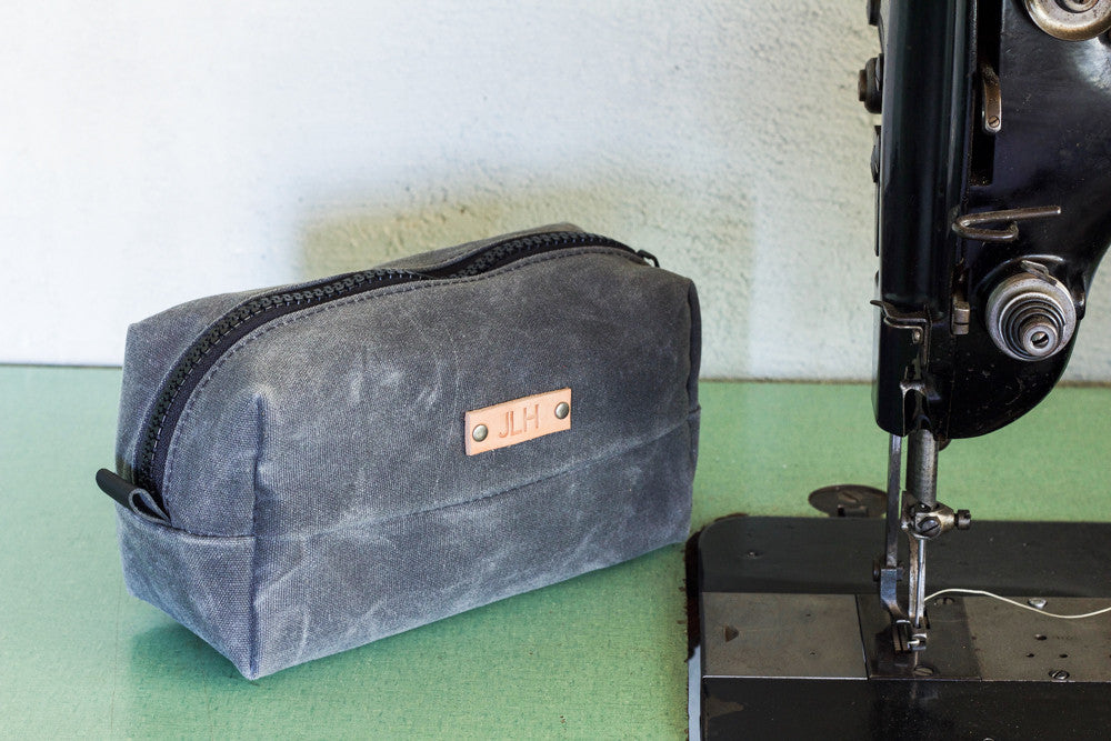 Waxed Dopp Kit | Charcoal - Valentich