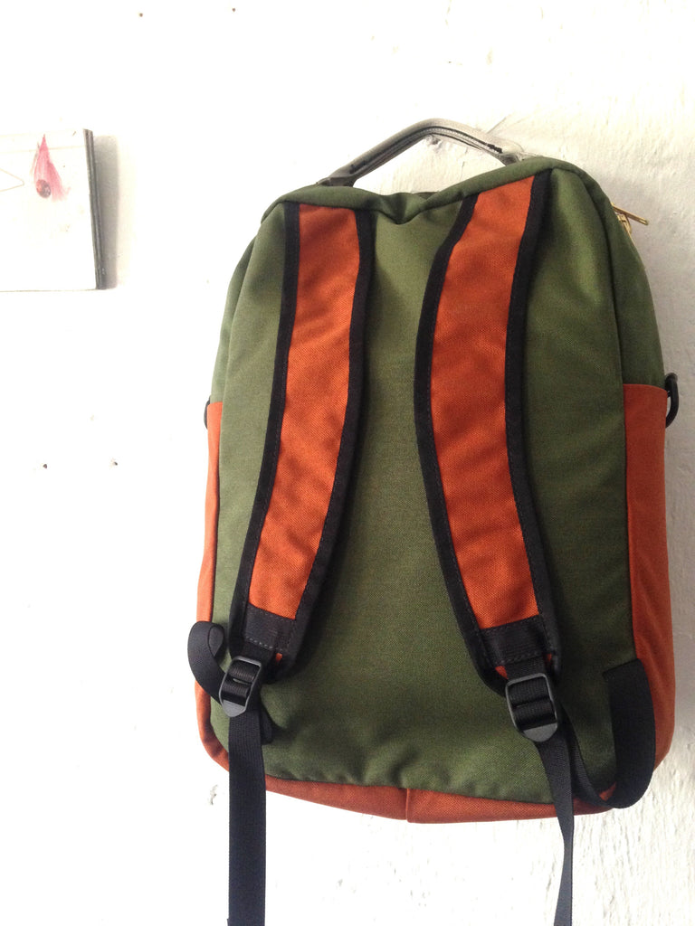 Forest + Burnt Orange Zipper Pack