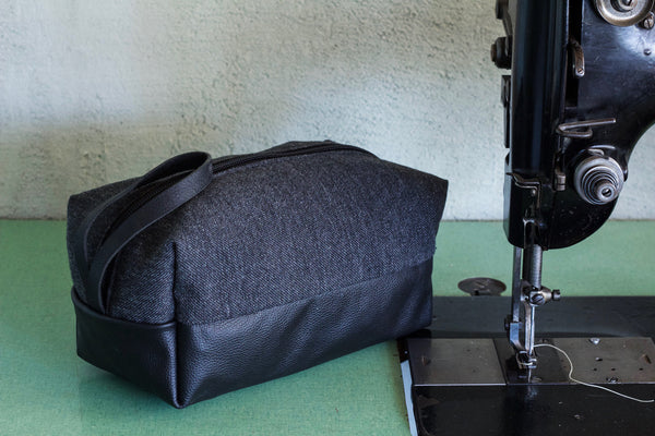 Wool + Leather Dopp Kit