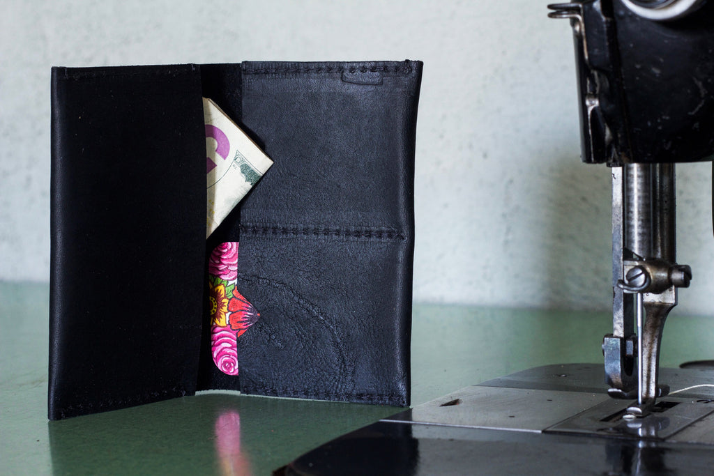 Leather Wallet Black - Valentich