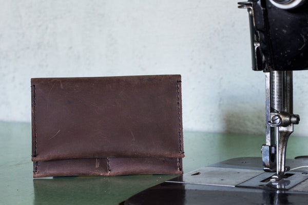 Leather Wallet Chocolate