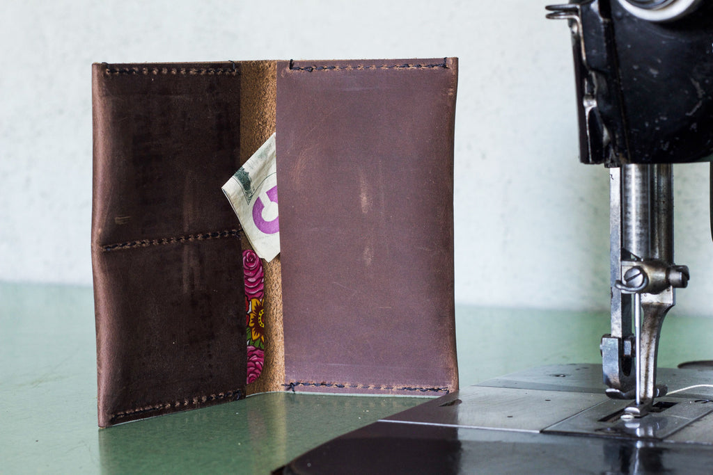Leather Wallet Chocolate - Valentich