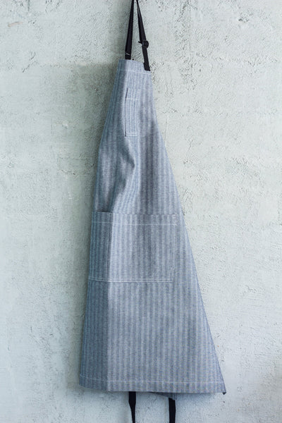 Oui Chef Restaurant Apron -- Herringbone Denim