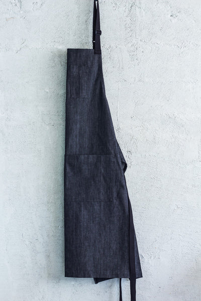 charcoal denim chef bib apron