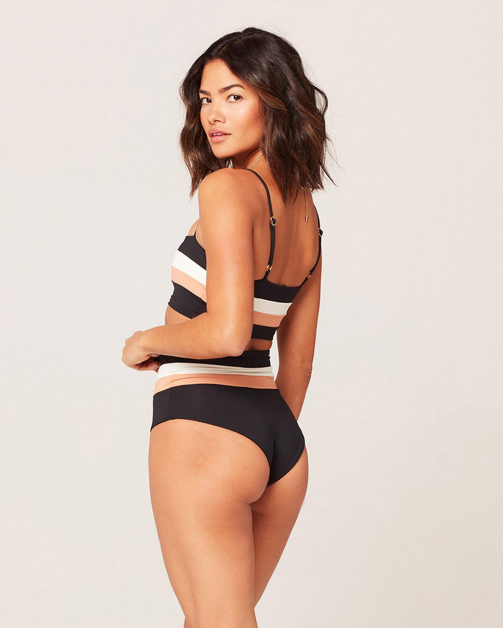 PORTIA STRIPE BIKINI BOTTOM - The Island Girl
