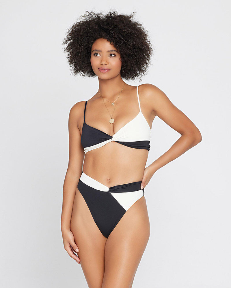 COLOR BLOCK NANCY LEE BIKINI BOTTOM