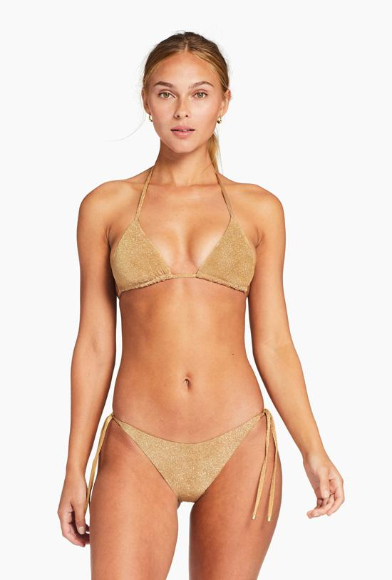 Gia Triangle Top - Golden Glow Metallic