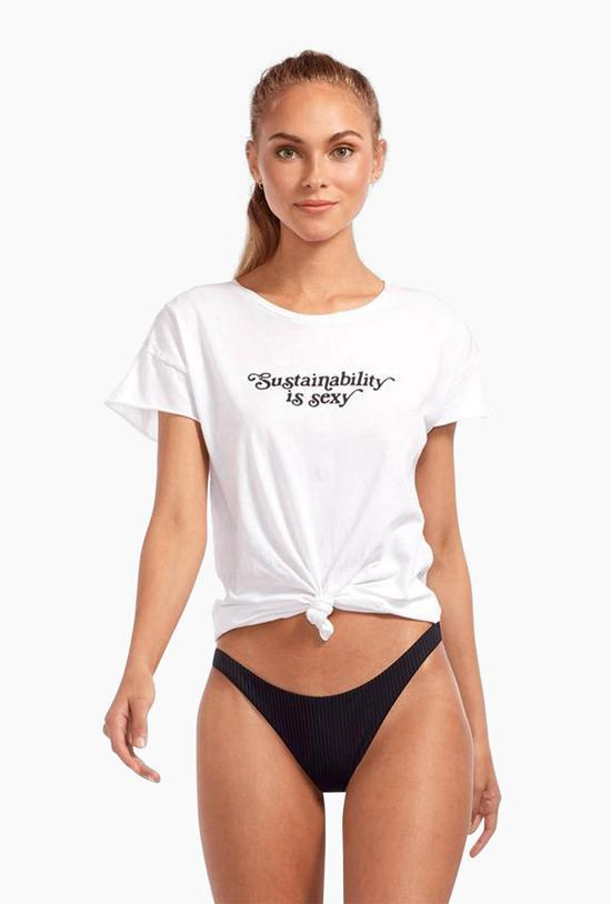 Sustainability is Sexy Tee - White