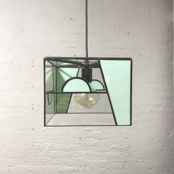 Copy of Deco Inspired Middle Half Circle Glass Pendant Light