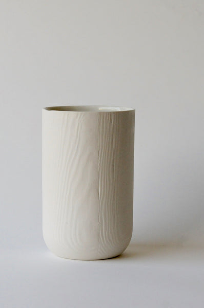 Woodgrain Porcelain Medium Vase