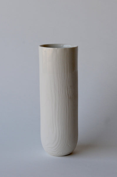 Woodgrain Porcelain Tall Vase