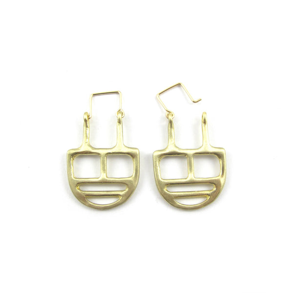 Goldeluxe Jewelry Brass Linear Earrings