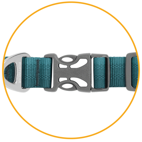 ruffwear teal collar for dogs