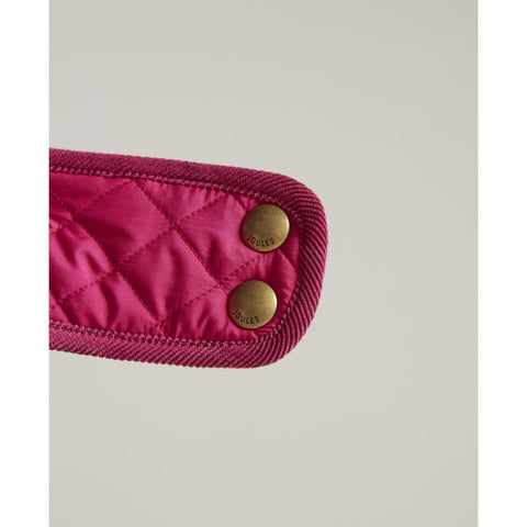 joules pink dog coat buckle