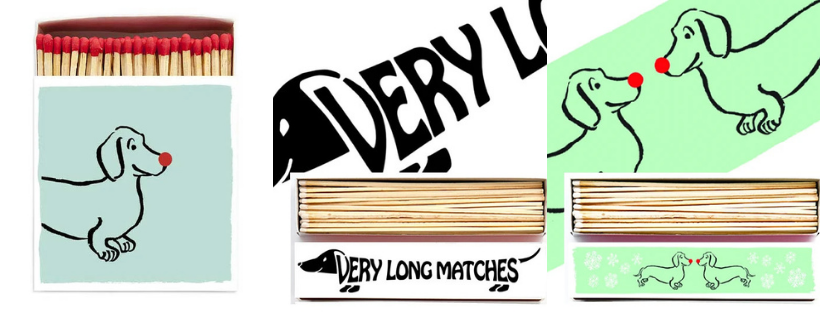 dachshund matches | sausage dog lovers perfect gift