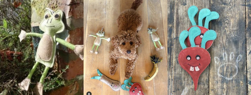 green and wilds dog toys