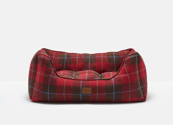 Red Tweed Percher Square Dog Bed - Doghouse