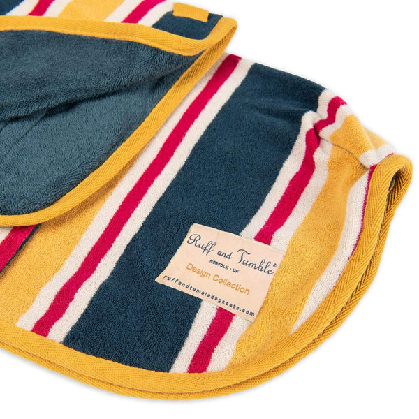 The Ultimate Dog Drying Coat - Beach Stripe - Doghouse