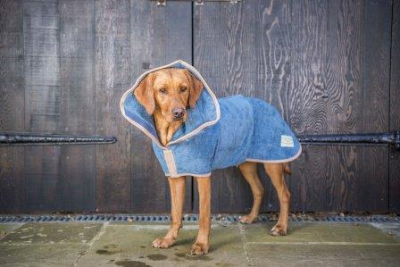 The Ultimate Dog Drying Coat - Sandringham Blue - Doghouse