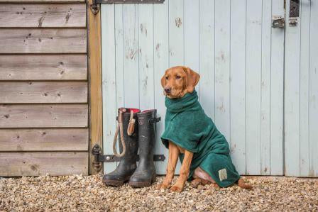 The Ultimate Dog Drying Coat - Bottle Green - Doghouse