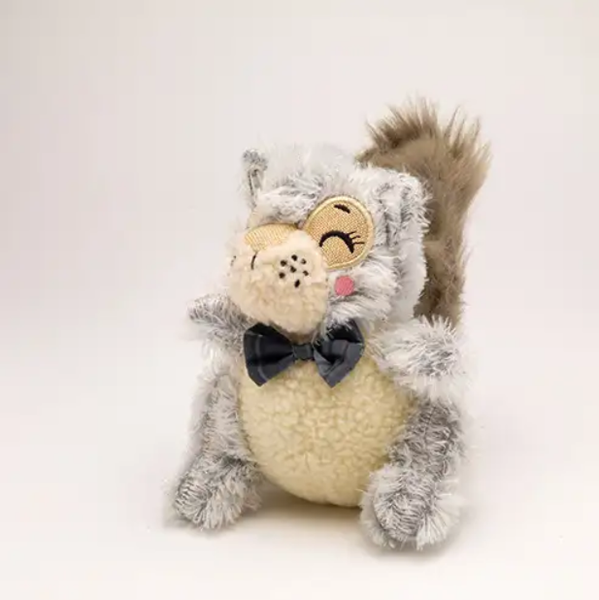 woodland creature squirrel dog toy