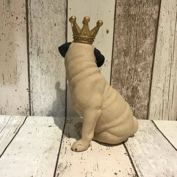 Pug King Ornament - Doghouse