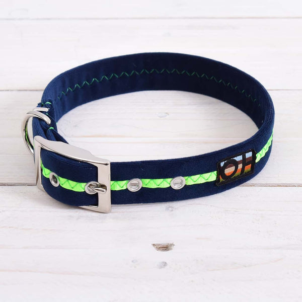 Neon Green Oscar and Hooch Dog Collar - Doghouse