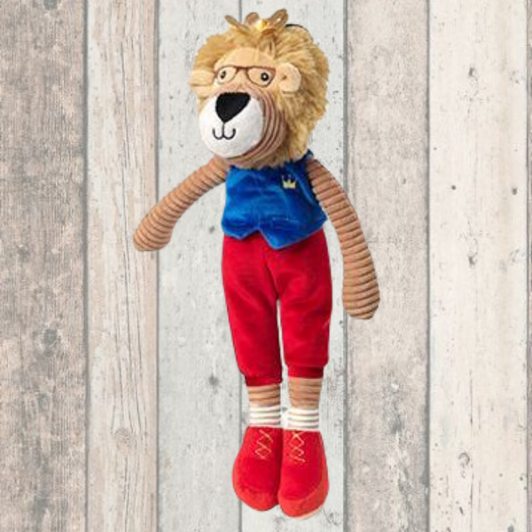 Majestic Lion With Crown Dog Toy