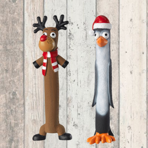 Reindeer and Penguin Christmas Dog Toy