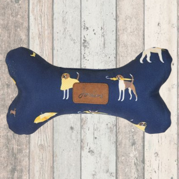 Joules Coastal Print Bone Dog Toy - Doghouse