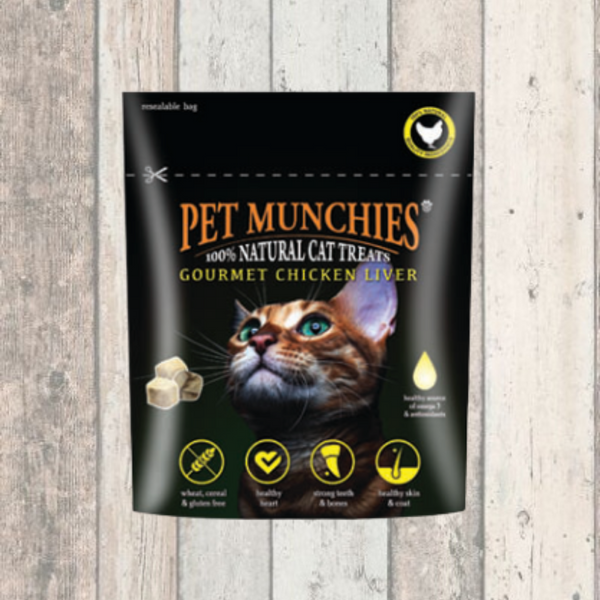 Gourmet Chicken Liver Pet Munchies Treats for Cats - Doghouse