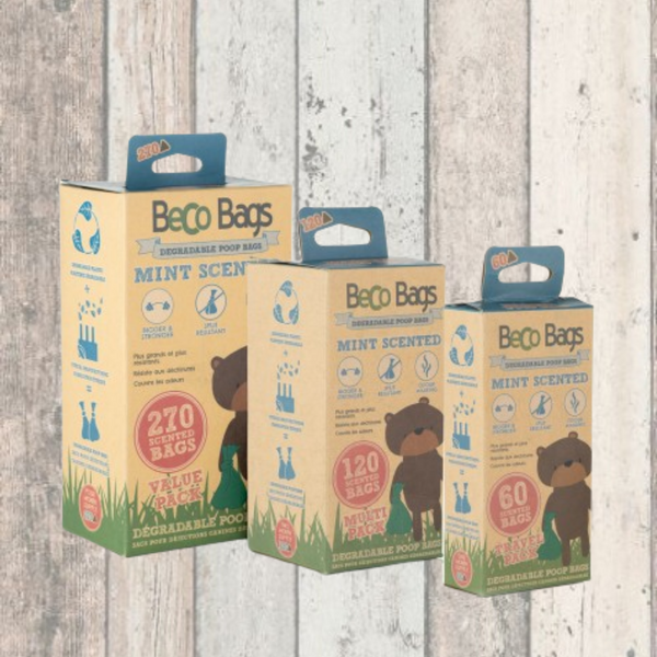Mint Scented Degradable Poop Bags - Doghouse