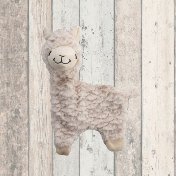 Alpaca Squeaky Plush Puppy Toy - Doghouse