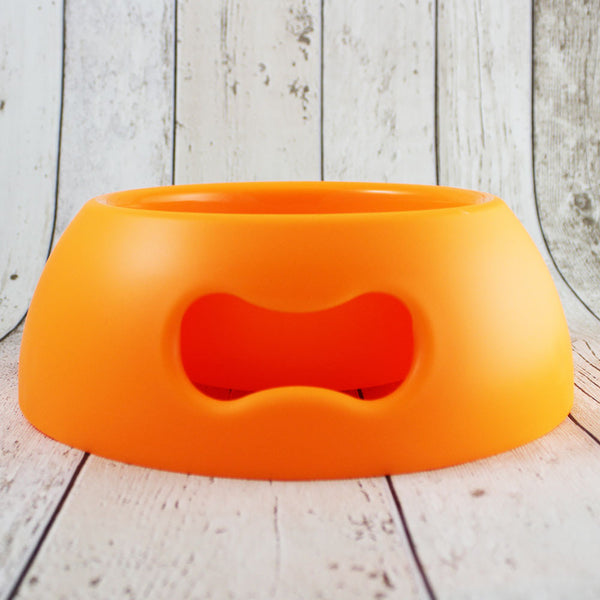 Bone Dog Bowl Neon Orange