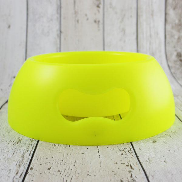 Bone Dog Bowl Neon Yellow