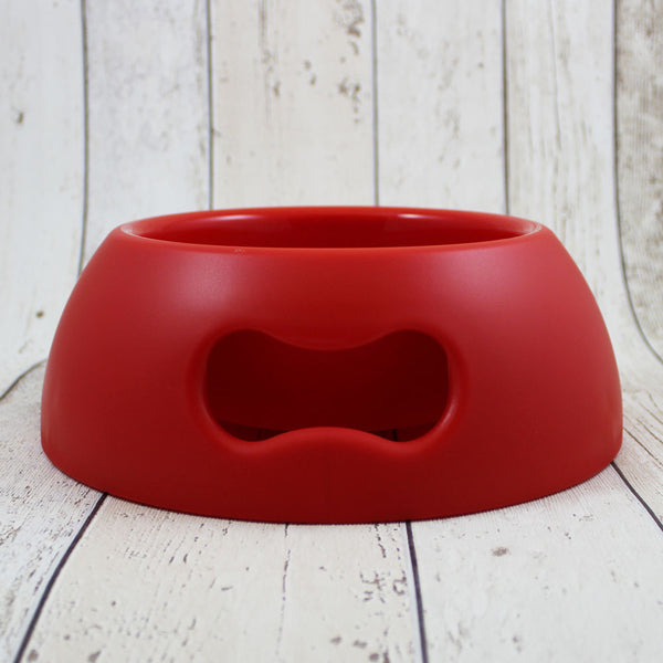 Bone Dog Bowl Red
