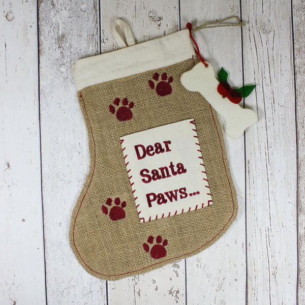 Christmas 'Santa Paws' Stocking - Doghouse