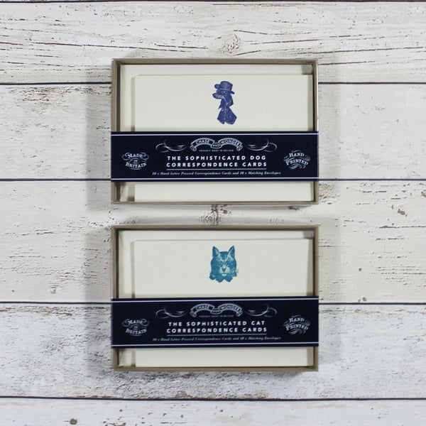 Correspondence Cards - Sophisticated Cat - Doghouse